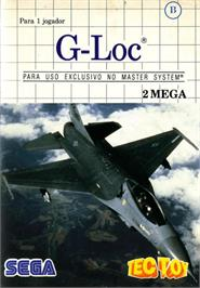 Box cover for G-Loc Air Battle on the Sega Master System.