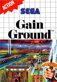 Box cover for Gain Ground on the Sega Master System.