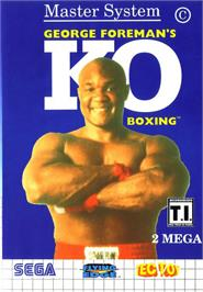 Box cover for George Foreman's KO Boxing on the Sega Master System.