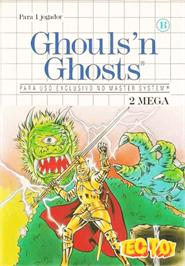 Box cover for Ghouls'n Ghosts on the Sega Master System.