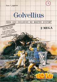 Box cover for Golvellius: Valley of Doom on the Sega Master System.