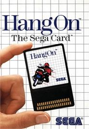 Box cover for Hang-On on the Sega Master System.