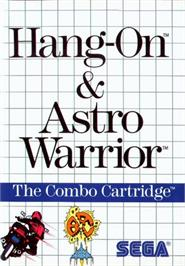 Box cover for Hang-On & Astro Warrior on the Sega Master System.
