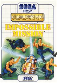 Box cover for Impossible Mission on the Sega Master System.