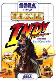Box cover for Indiana Jones and the Last Crusade: The Action Game on the Sega Master System.