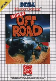 Box cover for Ironman Ivan Stewart's Super Off-Road on the Sega Master System.