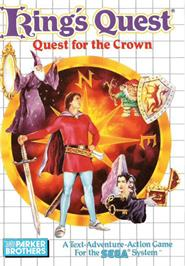 Box cover for King's Quest on the Sega Master System.
