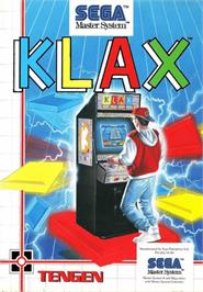 Box cover for Klax on the Sega Master System.