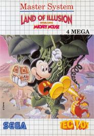 Box cover for Land of Illusion starring Mickey Mouse on the Sega Master System.