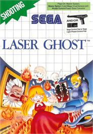 Box cover for Laser Ghost on the Sega Master System.