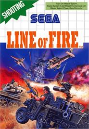 Box cover for Line of Fire / Bakudan Yarou on the Sega Master System.