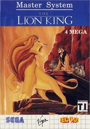 Box cover for Lion King on the Sega Master System.