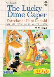Box cover for Lucky Dime Caper starring Donald Duck on the Sega Master System.