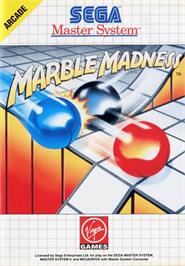 Box cover for Marble Madness on the Sega Master System.