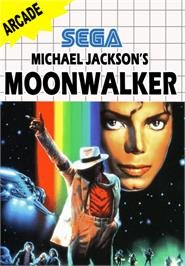 Box cover for Michael Jackson's Moonwalker on the Sega Master System.