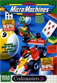 Box cover for Micro Machines on the Sega Master System.