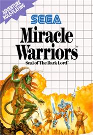Box cover for Miracle Warriors: Seal of the Dark Lord on the Sega Master System.