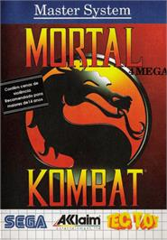 Box cover for Mortal Kombat on the Sega Master System.