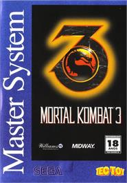 Box cover for Mortal Kombat 3 on the Sega Master System.