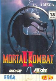 Box cover for Mortal Kombat II on the Sega Master System.