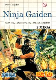 Box cover for Ninja Gaiden on the Sega Master System.