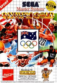 Box cover for Olympic Gold: Barcelona '92 on the Sega Master System.