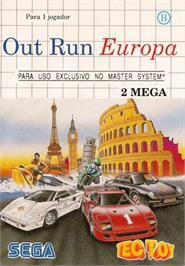 Box cover for Out Run Europa on the Sega Master System.