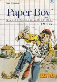 Box cover for Paperboy on the Sega Master System.
