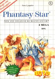 Box cover for Phantasy Star on the Sega Master System.