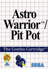 Box cover for Pit Pot & Astro Warrior: The Combo Cartridge on the Sega Master System.