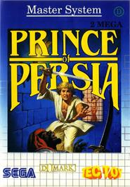 Box cover for Prince of Persia on the Sega Master System.