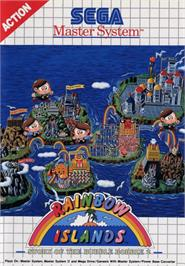 Box cover for Rainbow Islands: The Story of Bubble Bobble 2 on the Sega Master System.