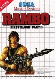 Box cover for Rambo: First Blood Part 2 on the Sega Master System.