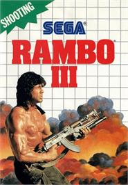 Box cover for Rambo III on the Sega Master System.