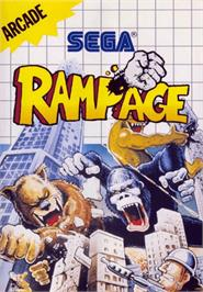 Box cover for Rampage on the Sega Master System.