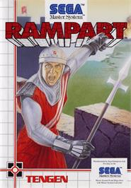 Box cover for Rampart on the Sega Master System.