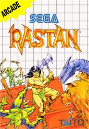 Box cover for Rastan on the Sega Master System.