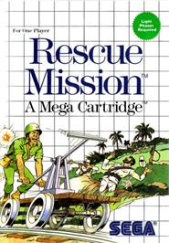 Box cover for Rescue Mission on the Sega Master System.