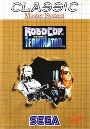 Box cover for Robocop vs. the Terminator on the Sega Master System.