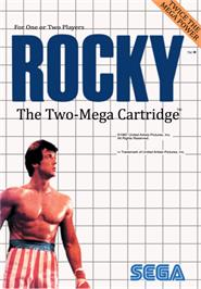 Box cover for Rocky on the Sega Master System.