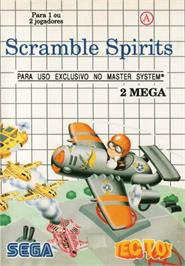 Box cover for Scramble Spirits on the Sega Master System.