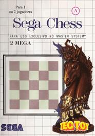 Box cover for Sega Chess on the Sega Master System.