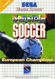 Box cover for Sensible Soccer: European Champions: 92/93 Edition on the Sega Master System.
