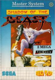 Box cover for Shadow of the Beast on the Sega Master System.