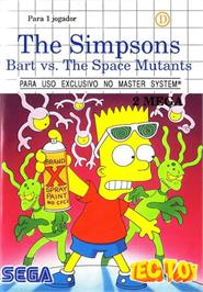 Box cover for Simpsons: Bart vs. the Space Mutants on the Sega Master System.