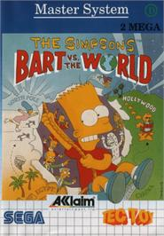 Box cover for Simpsons: Bart vs. the World on the Sega Master System.