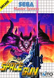 Box cover for Space Gun on the Sega Master System.
