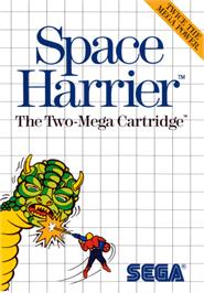 Box cover for Space Harrier on the Sega Master System.