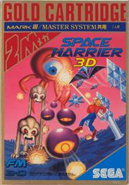 Box cover for Space Harrier 3-D on the Sega Master System.