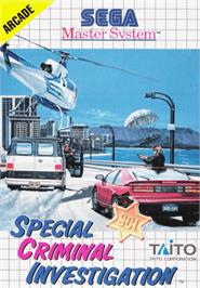 Box cover for Special Criminal Investigation on the Sega Master System.